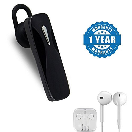 Captcha K1 Mini Bluetooth Wireless Headset with Microphone With Earpod with Extra Bass, Sound Controller and Mic Compatible with Xiaomi, Lenovo, Apple, Samsung, Sony, Oppo, Gionee, Vivo Smartphones (One Year Warranty)