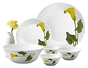 LaOpala Amber Lily Dinner Set, 27-Pieces, Multicolour
