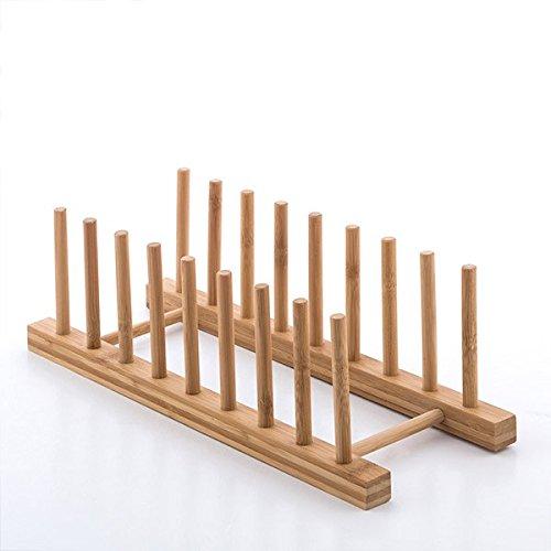Geschirrständer Küchen Abtropfgestell aus Bambus