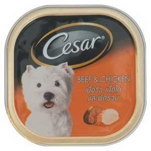 Cesar Dog Food Beef and Chicken in Meaty Juices for Small Dog 100 Grams by Cesar24
