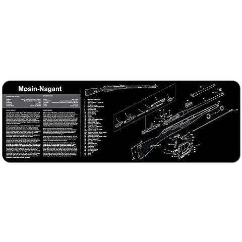 TekMat 12-Inch X 36-Inch Long Gun Cleaning Mat with Mosin Nagant Imprint, Black (Gun Cleaning Mat)