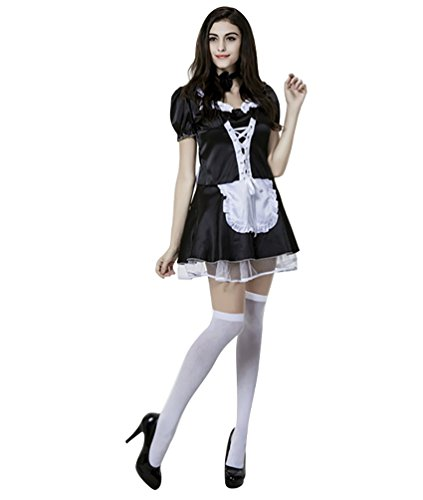 YOUJIA Maid Cosplay Kostüme Damen Halloween Party Kleider Outfits ...