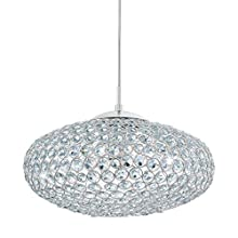 EGLO 95286 Clemente Pendant Light in Chrome and Crystal