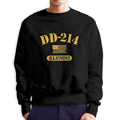 SASJOD Männer Hoodies DD 214 Alumni Men's Adult Crew Neck Sweatshirt Fashion Long Sleeve Pullover -