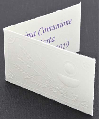 Le gemme di venezia bigliettini per bomboniera prima comunione con calice a rilievo stampa personalizzata a colori in omaggio (pezzi 50)