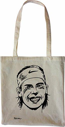Mister Merchandise Tote Bag Rafael Nadal Borsa Bagaglio , Colore: Naturale Naturale