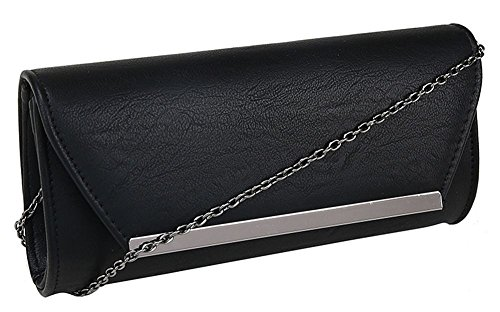 Hautefordiva, Signore Clutch Pelle Color M Nero