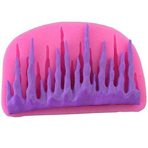 WANGTGG Eiszapfen Design Form Modellierung Form Silikonform Fondant Kuchenform Dekorative Flüssigsilikonform Backformen Werkzeuge 10,3 * 6,3 * 1,2 cm (Keine Süßigkeiten Halloween Brief)