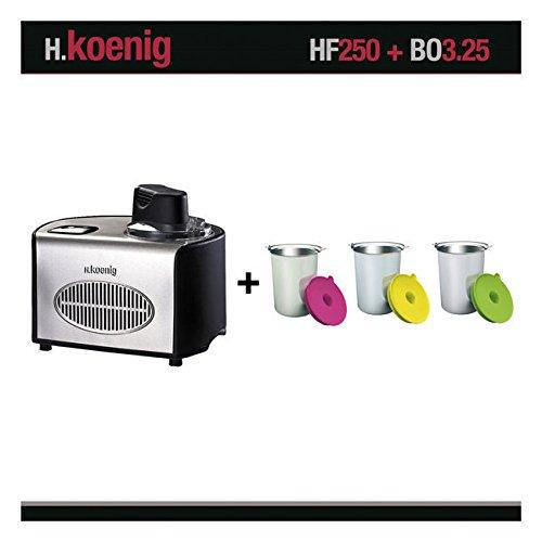 H. Koenig HF250Sorbetière rafraîchissant et récipients