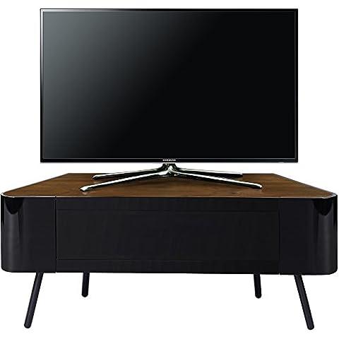 MDA Designs NOVA 1140BWA Esquina-amostoso Negro brillante con el Real madera de nogal de haz remoto-amostoso Beam-Thru 32