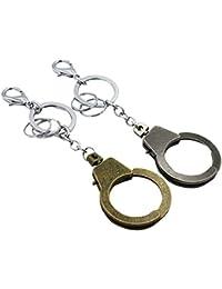 BESTOYARD Porte-clés créatif menottes voiture porte-clés sac à main  pendentif pour amoureux 8f16537413a