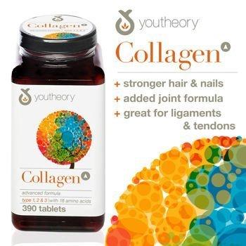 Youtheory Collagen Advanced Formula Type 1, 2 & 3 Tablets 390 x 2 Tubs - Tabletten Advanced Formula