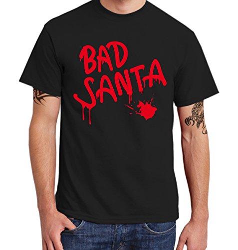 ::: BAD SANTA ::: T-Shirt Herren Schwarz mit rotem Aufdruck