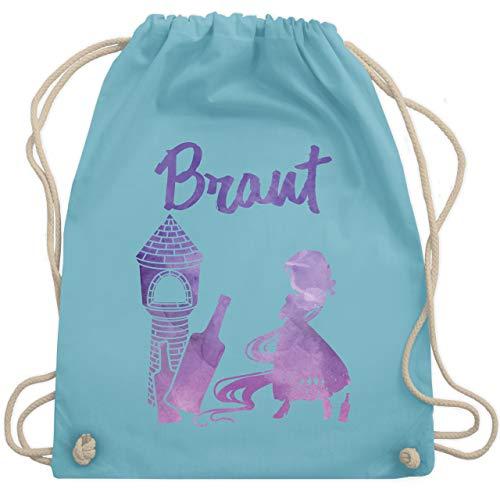 JGA Junggesellinnenabschied - JGA Braut Prinzessin - Unisize - Hellblau - WM110 - Turnbeutel & Gym Bag (Paare Prinzessin Kostüme Braut)