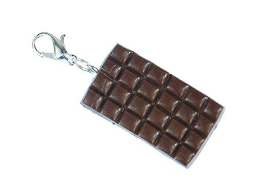 Miniblings Schokolade Charm Zipper Anhänger Bettelanhänger Tafelschokolade Braun