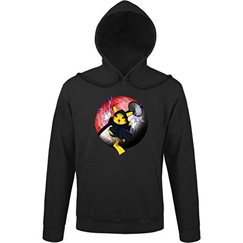 Sweat à Capuche Noir Star Wars - Pokémon parodique Pikachu et Palpatine Darth Sidious : Pika Dark Side : (Parodie Star Wars - Pokémon)