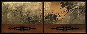 Shibata Zeshin – Autumn Grasses in Moonlight Impression d'art Print (45,72 x 60,96 cm)