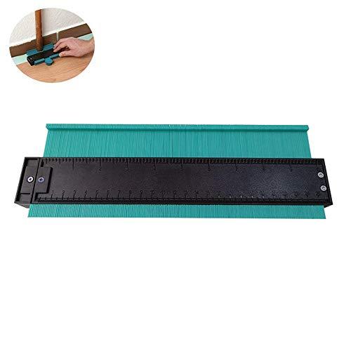 Volwco Konturlehre Duplikator Profil Messwerkzeug, 25,4 cm Kunststoff multifunktional unregelmäßig liniert tiefe Konturen, professionelle Holzbearbeitung, Laminat-Duplikator [aktualisierte Version] -