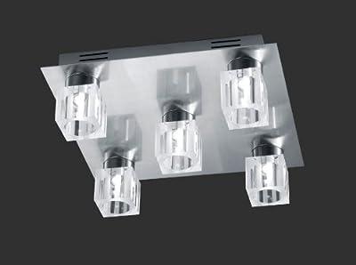 """Deckenleuchte """"Cube II"""" in Nickel matt von Trio bei Lampenhans.de"""