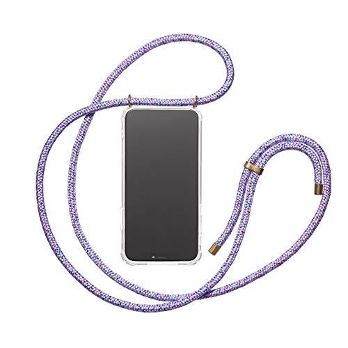 KNOK Handykette Kompatibel mitApple iPhone 7/8- Silikon Hülle mit Band - Handyhülle für Smartphone zum Umhängen - Transparent Case mit Schnur - Schutzhülle mit Kordel in Pony -
