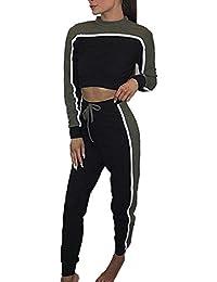 Chándales Mujer es Conjunto Amazon Ropa Blusa Y Pantalon AY4qnw17