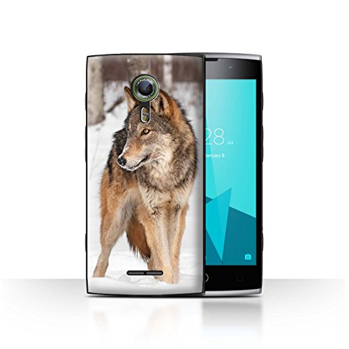 Stuff4® Hülle/Case für Alcatel Flash 2 / Wolf Muster/Wilde Tiere Kollektion