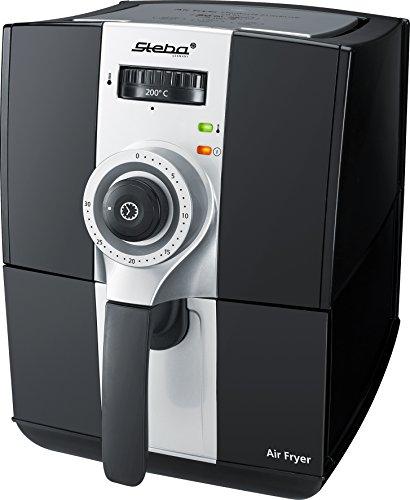 Steba HF 900–Friggitrice ad Aria Calda, 2,0L Volume fino al 80% di grassi in meno, 1500W, Nero/Grigio