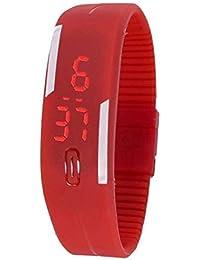 VRCT Black LED Watch Digital Watch - For Boys, Girls, Men (Digital Red)