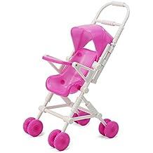 Pinzhi 1x Plástico Cochecito Carrito Infantil Carro de Muñecas Barbies Niñas Bebé Juguete 220 x 94 x 70 MM