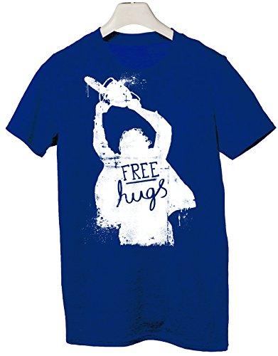 Tshirt free hugs - abbracci liberi - Tutte le taglie by tshirteria Blu