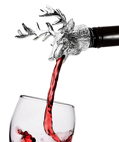 freemaster-wine-pourer-and-stopper-wine-aerators-stainless-deer-stag-head-wine-pourer-silver-white