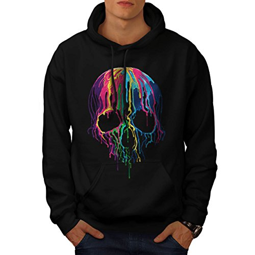 skull-dj-party-dye-paint-splat-men-new-black-m-hoodie-wellcoda