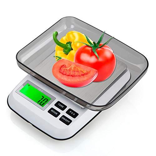 ZHANGYUGE Digitale Küchenwaage 3000G/0,1G 600G/0,01G tragbare elektronische Küche Ernährung Post Gewicht der Waage Balance LED-Hinterleuchtung, 600G - 0,01 G