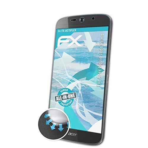 atFolix Schutzfolie passend für Acer Liquid Jade Primo Folie, ultraklare & Flexible FX Bildschirmschutzfolie (3X)