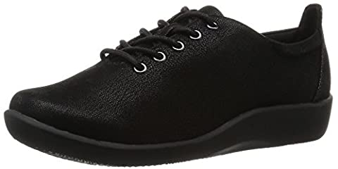 Clarks Sillian Tino Womens Black Lace-Up Shoes 5 Black