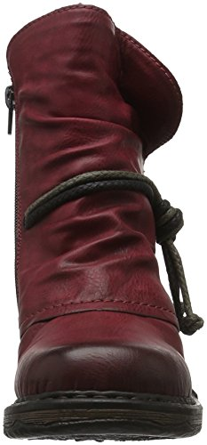 Rieker Z9961, Stivali Donna Rosso (Wine/fumo)