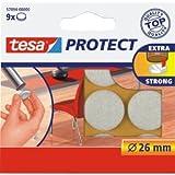 tesa 20 x Filzgleiter Protect Durchmesser 26mm rund weiß