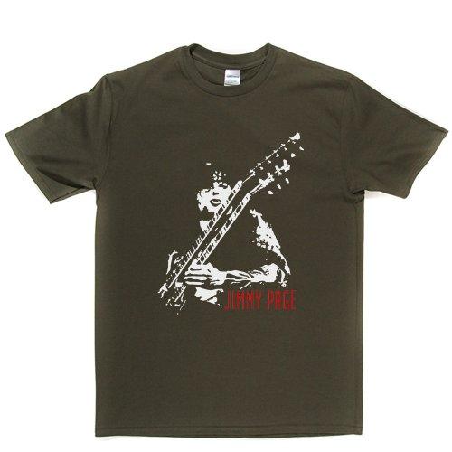 Jimmy Page 2 Rock Band Hero T-shirt Militärgrün