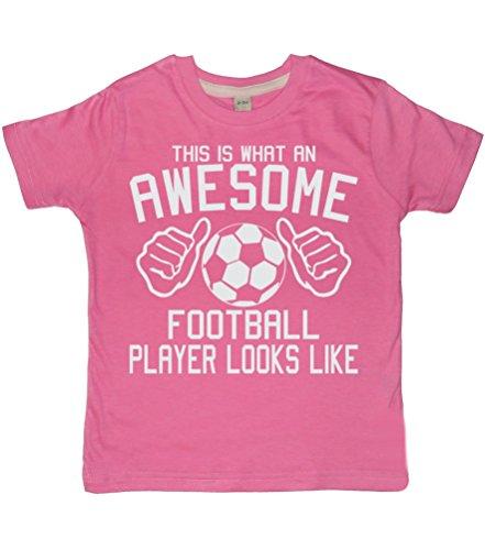 This Was ein Awesome Fußball Player sieht aus wie Bubblegum Pink Girl 's T-Shirt mit einem weiß Glitzer Print, Edward Sinclair T-Shirt Gr. One size, Bubblegum Pink (Awesome T-shirt Soccer)