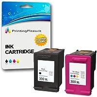 2 XL Compatibili HP 300XL Cartucce d'inchiostro