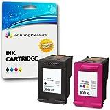 Printing Pleasure 2 XL Compatibili HP 300XL Cartucce d'inchiostro Sostituzione per Deskjet D1660 D2545 D2560 D2660 D5560 F2420 F2480 F4280 F4580 Photosmart C4780 C4680 - Nero/Colore, Alta Capacità