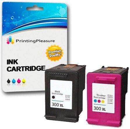 Printing pleasure 2 xl compatibili hp 300xl cartucce d'inchiostro sostituzione per deskjet d1600 d1660 d1663 d2500 d2530 d2545 d2560 d2563 d2566 d2600 d2645 d2660 d2663 d2666 d2668 d2680 d5560 f2400 f2410 f2418 f2420 f2423 f2430 f2440 f2476 f2480 f2483 f2488 f2492 f2493 f4200 f4210 f4213 f4224 f4230 f4225 f4240 f4250 f4272 f4273 f4274 f4275 f4280 f4283 f4288 f4290 f4400 f4424 f4435 f4440 f4450 f4470 f4472 f4473 f4480 f4483 f4492 f4580 f4583 photosmart c4780 c4680 - nero/colore, alta capacità