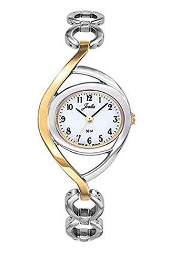 Joalia - Montre Femme - H634M019 - Bracelet Bicolore - Cadran Blanc - Boitier Ovale