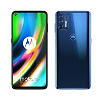 Moto G9 Plus, 128GB ROM, 6GB RAM, Navy Blue - Amazon Exclusive
