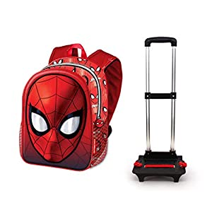 412i0KrFvNL. SS300  - Karactermania Spiderman Spiderweb-Basic Trolley-Rucksack Mochila Tipo Casual 48 Centimeters 18.2 Rojo (Red)