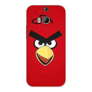 Enticing Red Bird Yellow Beak Back Case Cover for HTC One M8
