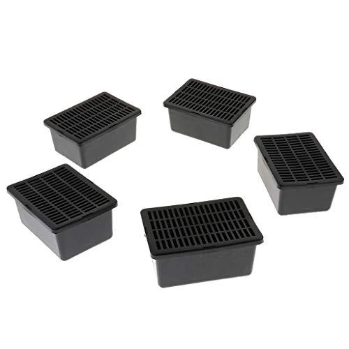 B Blesiya 5pcs Reptilien Transportbox Fütterung Box 14x10x6,5cm