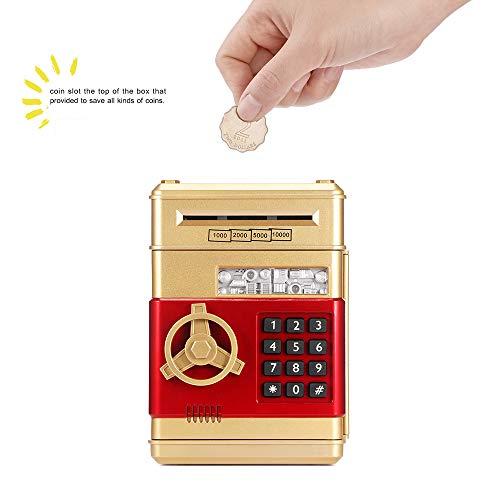 FreeLeben ATM Bancos de Dinero, Billete de Monedas Guarro Electronico Cosas de Almacenamiento...
