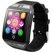 MagiDeal Q18 Smartwatch Bluetooth Android IOS Bracelet Sport Multifonction Téléphone / Appareil Photo TF/ Sim Slot Carte - Noir
