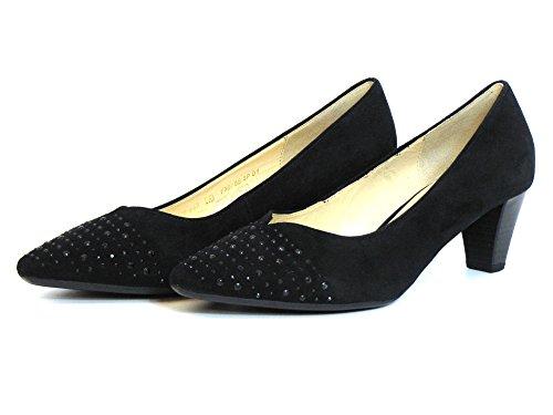Gabor Donna scarpa décolleté nero, (schwarz) 75.142.17 schwarz
